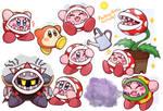 Piranha Plant Kirby Doodles