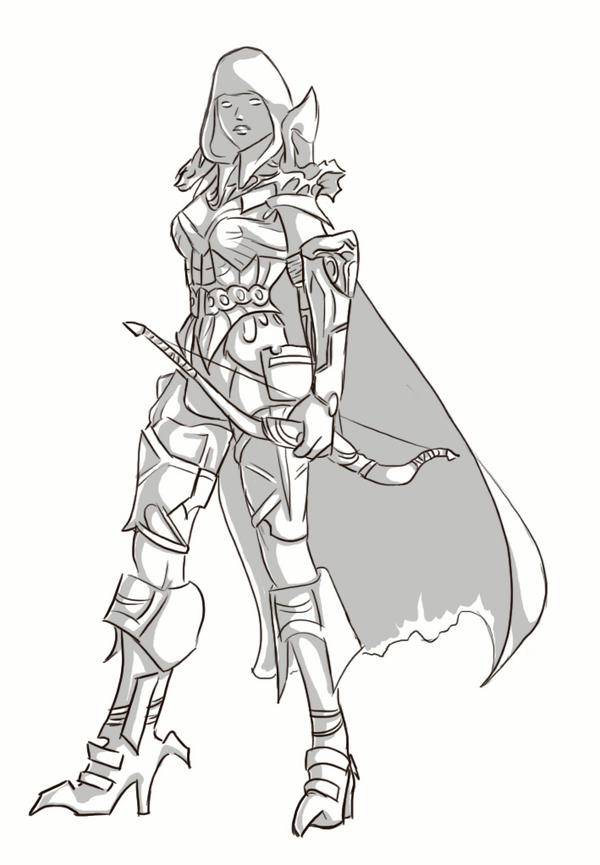 D3 Demon Hunter Leo sketch By Fulcrumisthebomb On