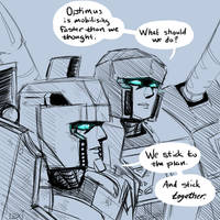 Shattered Glass Megs and Screamer by Fulcrumisthebomb