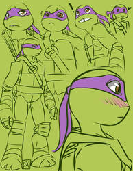 TMNT: Donnie sketches