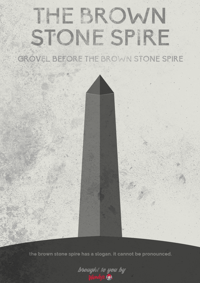 Brown Stone Spire Poster