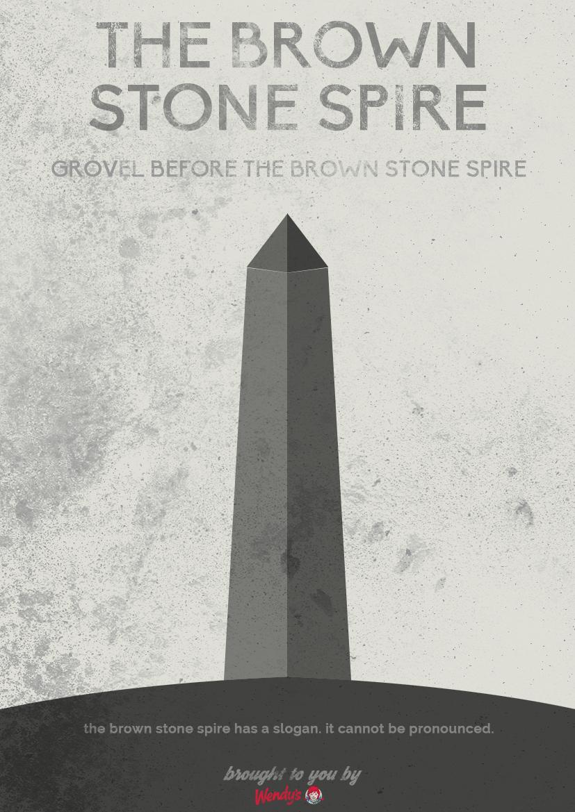 Brown Stone Spire Poster by SierraDesign