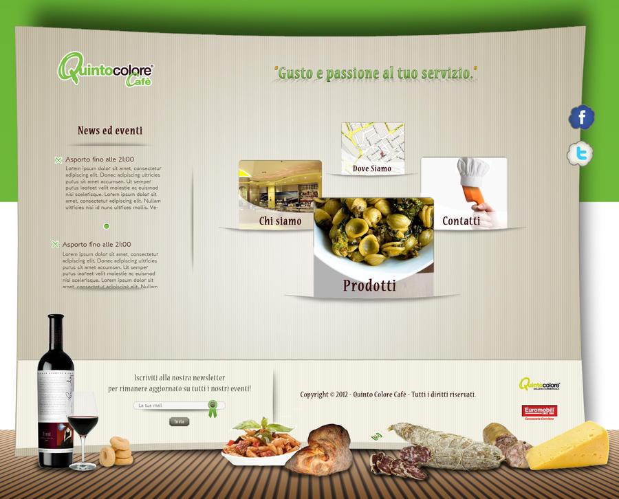 Restaurant website layout by phlex on deviantart
