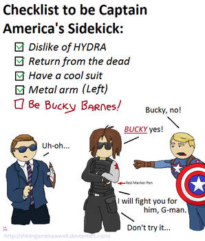 Bucky found out about Coulson's Sidekick List