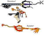 Devotion and Rebirth keyblades