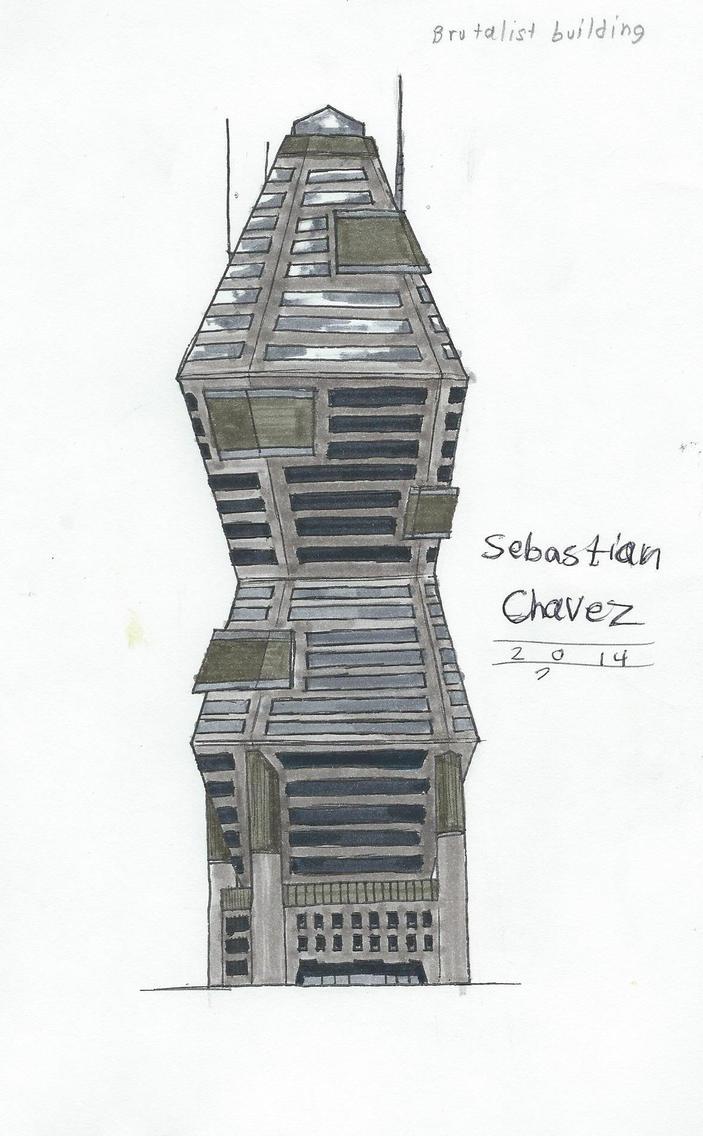 Modern Brutalist Skyscraper By ArtRock15