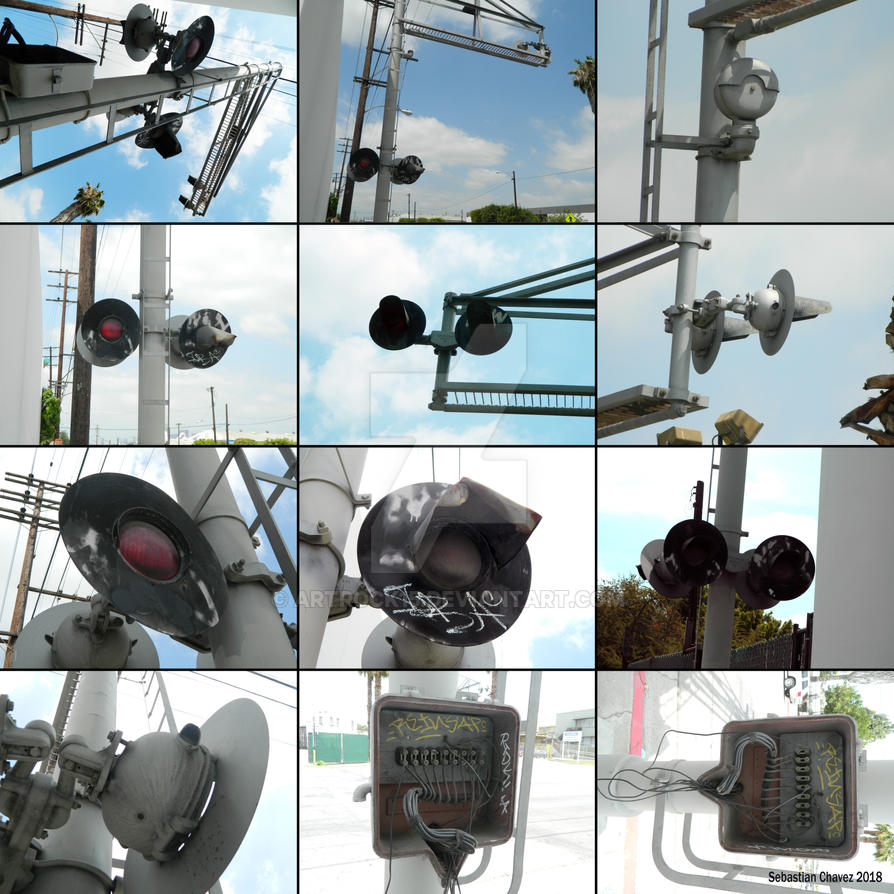 Abandoned Griswold Grade Crossing Signal Collage by