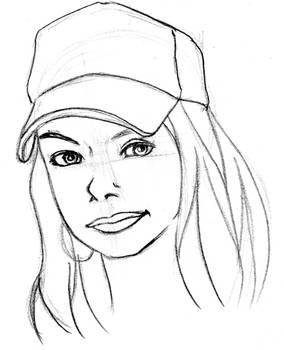 Sketch Face Girl 002