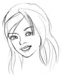 Sketch Face Girl 004