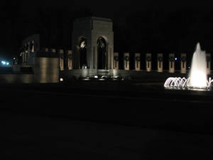 WWII Monument at Night