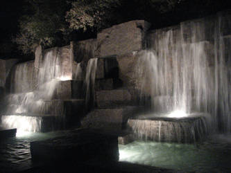 Waterfall at Night by Wonderdyke-Stock