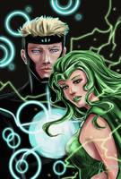 Marvel: Havok and Polaris by fenikkusu
