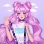 purple dream by Hellesss