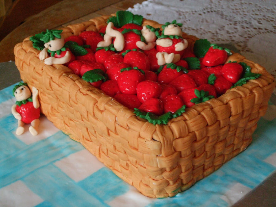 Preserving Strawberries Cake Strawberry Basket Cake by