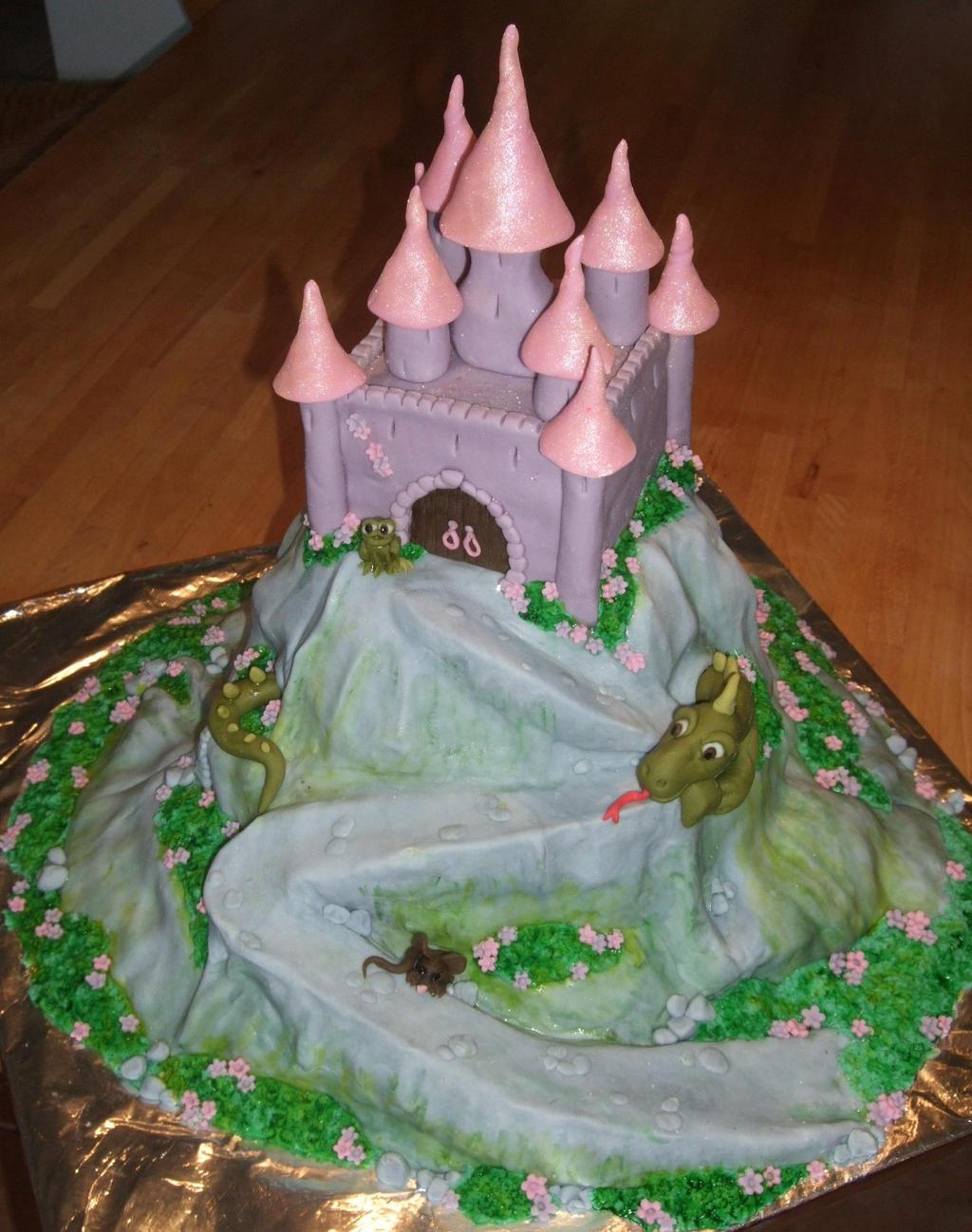 Fairy tale castle cake by Shoshannah84 on DeviantArt