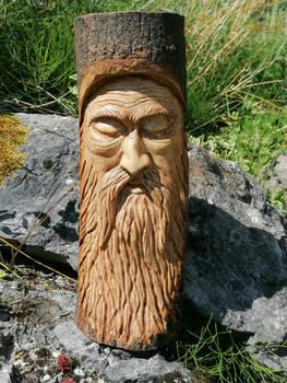 Peaceful wood spirit
