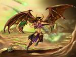 Wowhead Legion Art Contest: Blood Elf Demon Hunter