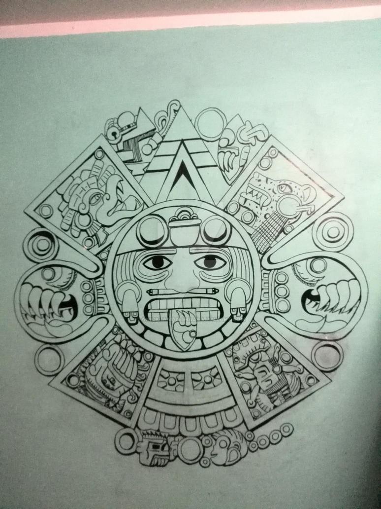 God Calendar Design : Aztec calendar by anickzamantha on deviantart