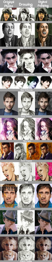 Stages of portraits