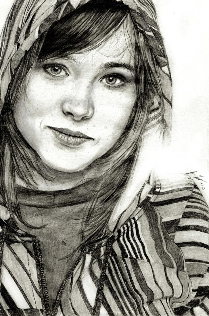 Ellen Page by JunebugHardee