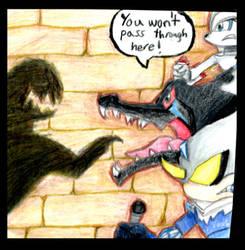Reshiram, Zekrom, and Kyurem Defend! by Carnage2u