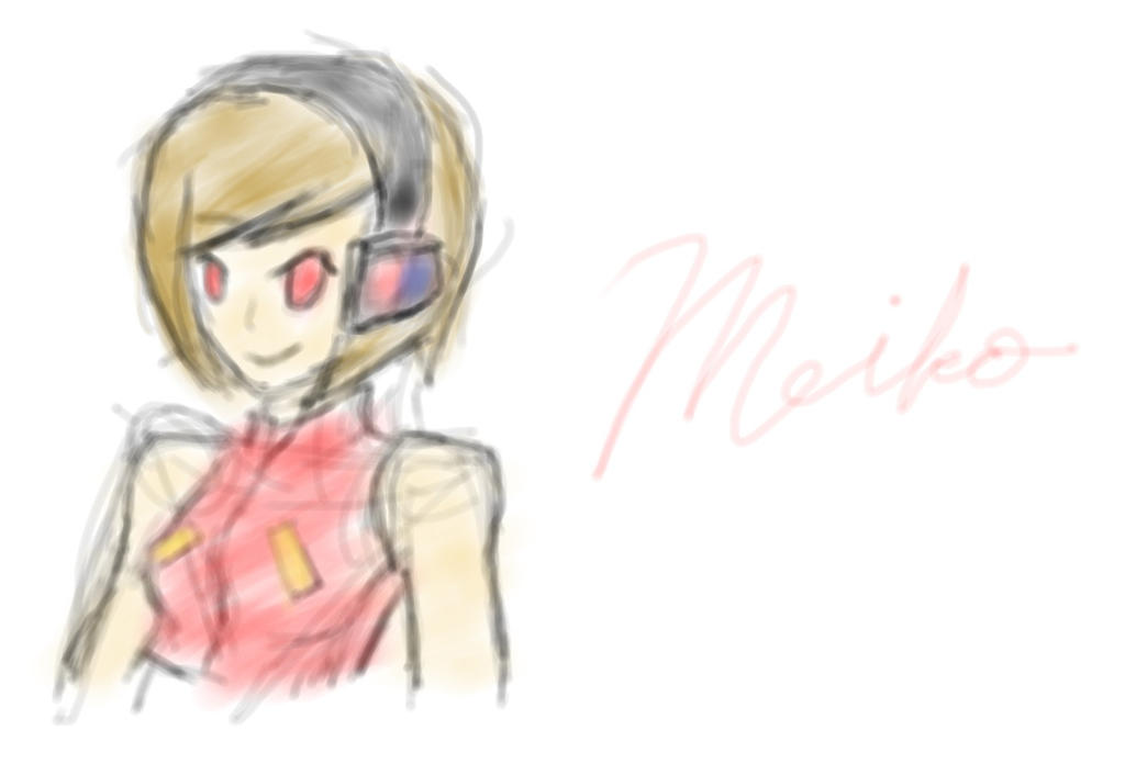 MyPaint First Try MEIKO Sakine by HIDDENloid-EXE on deviantART