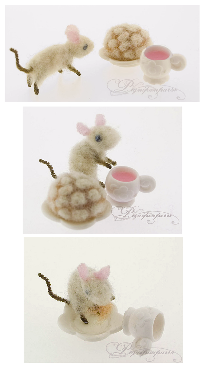 Little mouse - needle felting by Piquipauparro