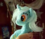 Sitting Lyra - handmade plush