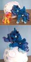 Size comparission - Handmade Luna plush