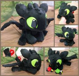 Little Toothless - handmade plush