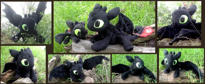 Toothless - handmade plush