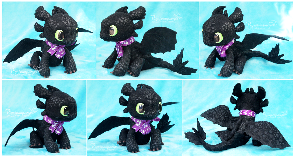 Amigurumi Toothless : Seniorito chimuelo young toothless doll by piquipauparro on