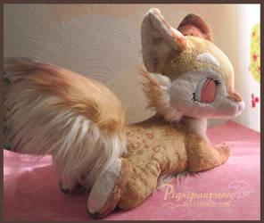 Fursona plushie - Custom made by Piquipauparro