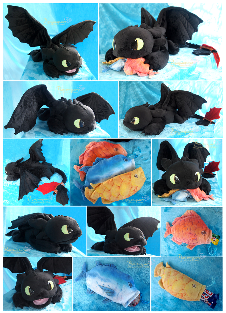 OOAK Toothless - Handmade plushie by Piquipauparro