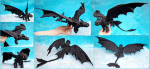 Toothless the Night Fury - Felt Art Doll