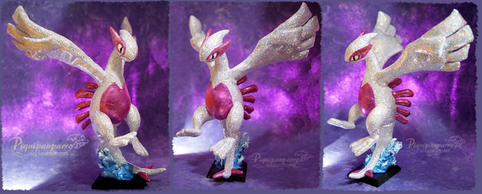Shiny/holografic lugia - handmade plushie by Piquipauparro