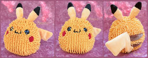 Pikachu - handmade plushie by Piquipauparro