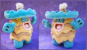 Shiny Ludicolo - Handmade plushie by Piquipauparro