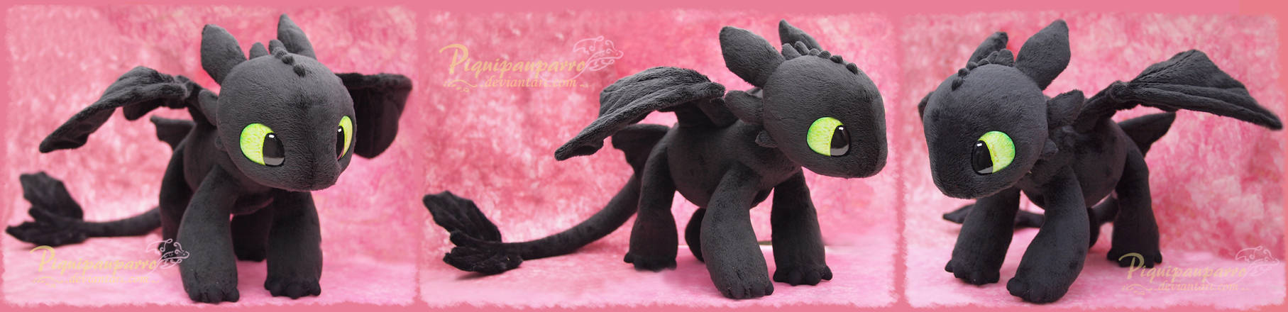 Young Toothless  - Handamde plushie
