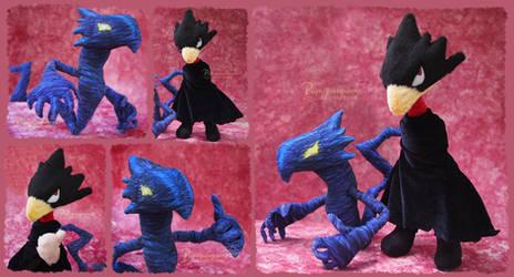 Tokoyami / Dark Shadow - Handmade plush - for sale by Piquipauparro