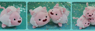 Mochi Lion - handmade plushie