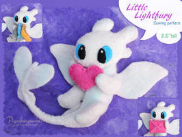 Little Lightfury felt pattern PDF for sale by Piquipauparro