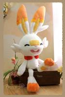 Scorbunny - Handmade plushie by Piquipauparro