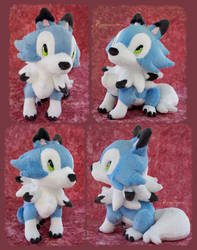 Puppy Lycanroc - Hand made plushie by Piquipauparro