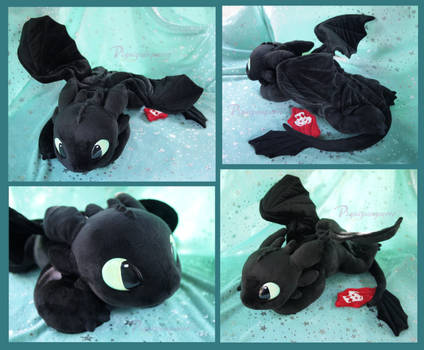 Young Toothless - Handmade plushie