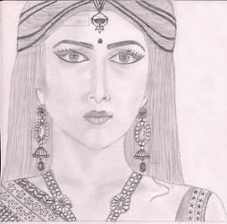Kalratri (avatar of goddess parvati) by AsterDew