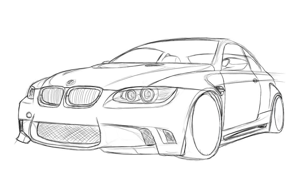 bmw e92 sketch by dazza mate on deviantart. Black Bedroom Furniture Sets. Home Design Ideas