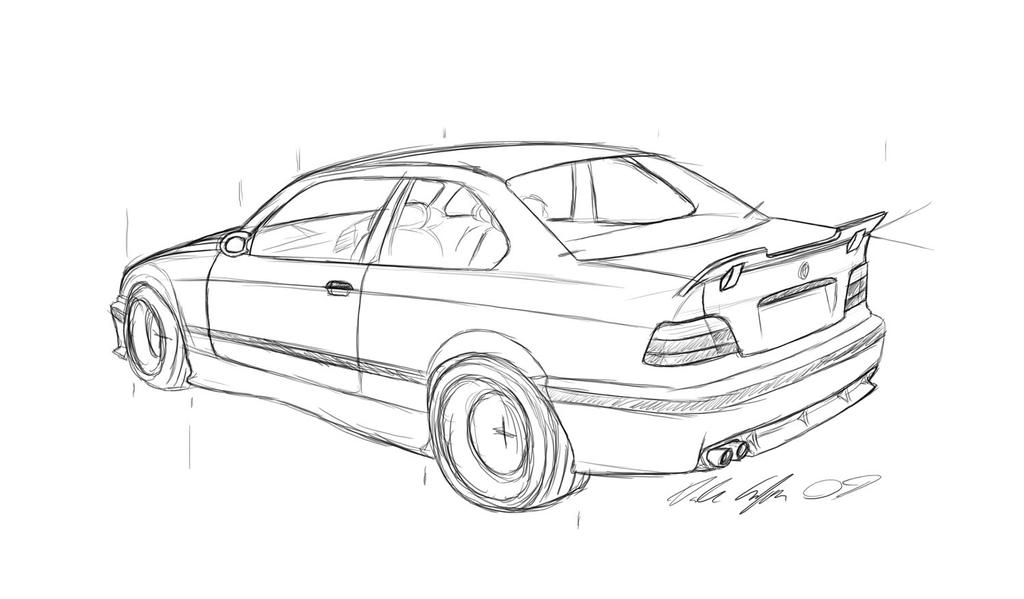 e36 m3 sketch by dazza