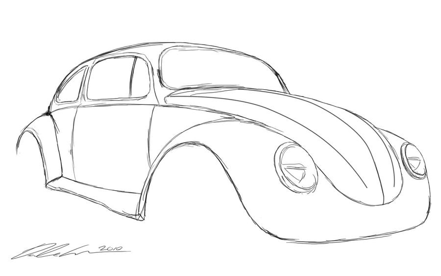 Custom VW Beetle Sketch 159511869 on vw beetle service