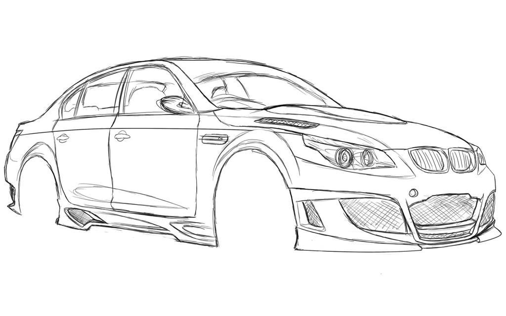 BMW M5 Sketch by dazza-mate on DeviantArt